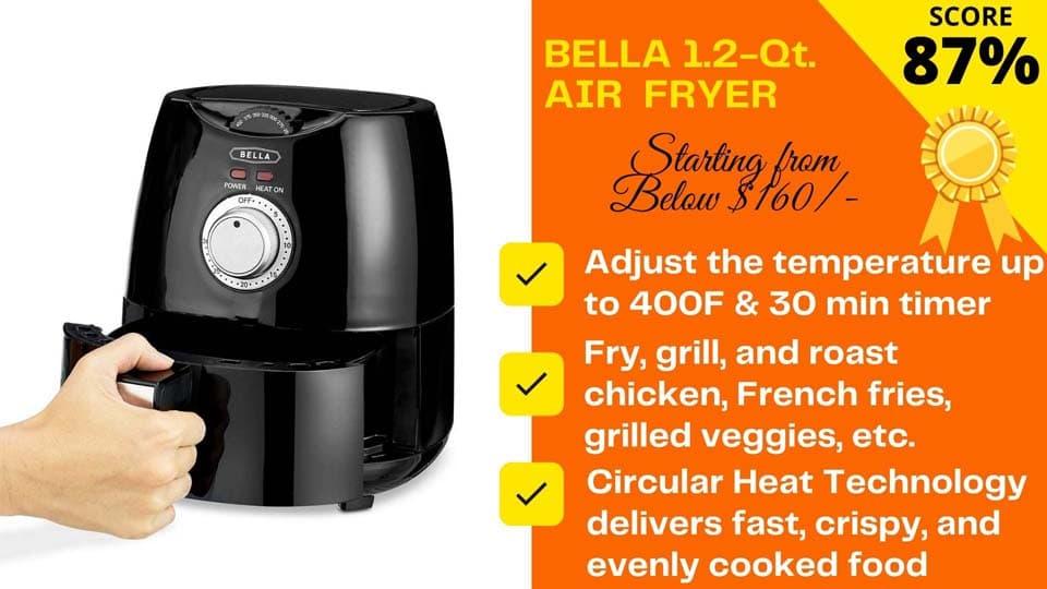 Bella 1.2 QT air fryer